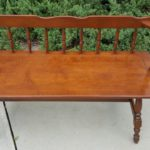 Newly Restored Wooden Bench